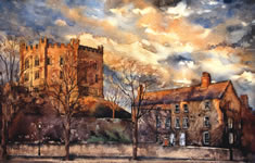 Watercolour of Durham Castle - University College - Master's House